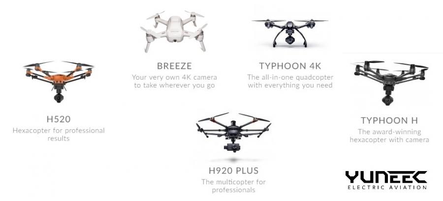 Yuneec drónok elérhetőek webshopunkban!